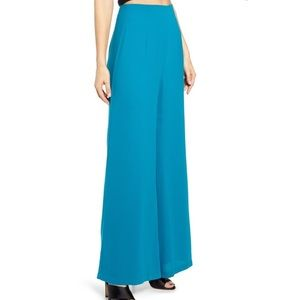 Leith Turquoise Wide Leg high waisted pants